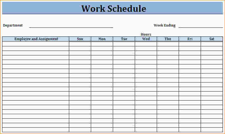 Blank Employee Schedule Charlotte Clergy Coalition