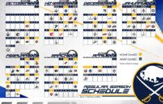Buffalo Sabres Printable Schedule