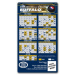 Buffalo Sabres Pro Hockey Schedule Magnets 4 X 7