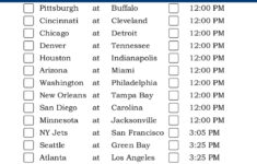 Central Time Week 14 NFL Schedule 2016 Printable