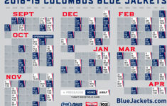 Columbus Blue Jackets Schedule Printable PrintAll