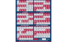Custom Los Angeles Angels Baseball Team Schedule Magnets 4