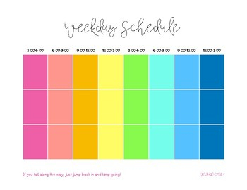 Daily Block Schedule Printable By Organized Charm TpT
