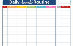 Daily Schedule Maker Task List Templates