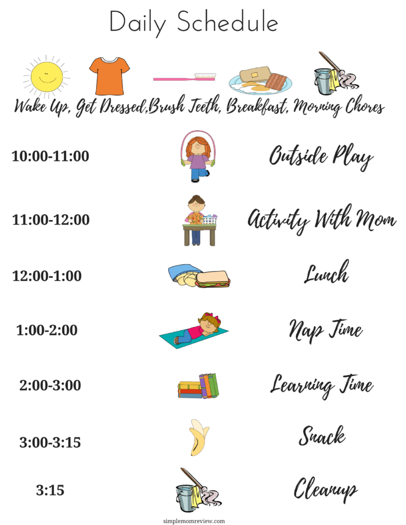 Daily Summer Schedule For Kids Free Printable Kids