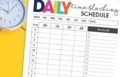 Daily Time Blocking Schedule Free Printable Download