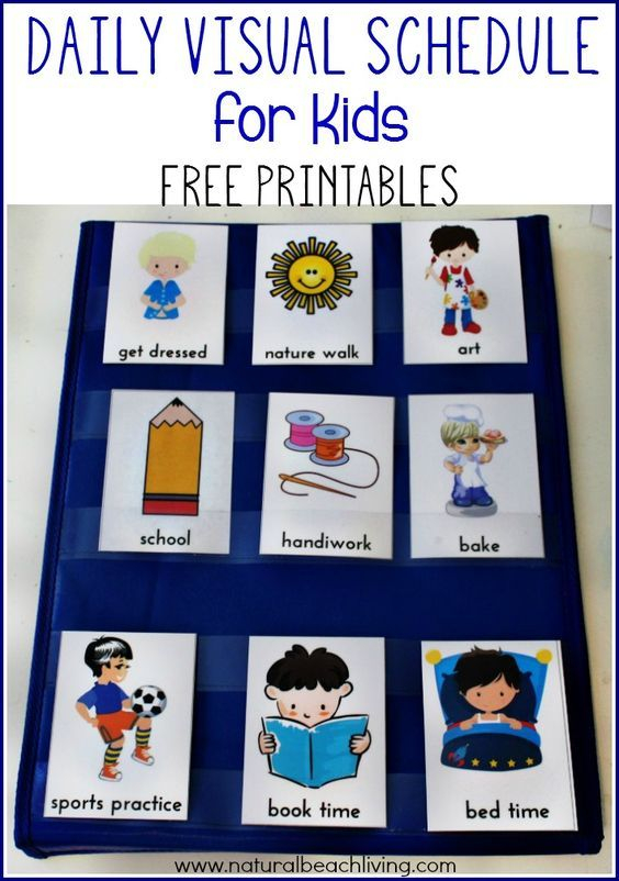 Daily Visual Schedule For Kids Free Printable Kids