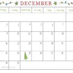 December 2019 Printable Calendar For Daily Schedule