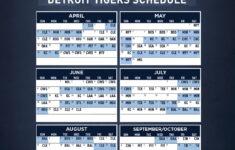Detroit Tigers 2021 Schedule Printable