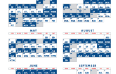 Dodgers Printable 2021 Schedule
