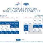 Dodgers Schedule Calendar 2021 Calendar 2021