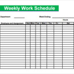 Employee Daily Work Schedule Template DriverLayer Search