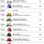 Florida Gators Football Team 2012 Schedule Florida