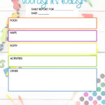Free Daycare Daily Report Child Care Printable The DIY