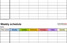Weekly Blank Schedule Printable