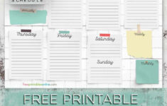 Free Printable Cleaning Schedule Template Free