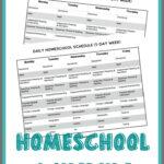 FREE Printable Homeschool Schedule Free Homeschool Deals
