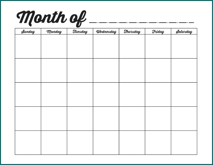 Free Printable Monthly Schedule Template Excel Bogiolo