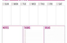 Free Printable Weekly Schedule Page 1 Paper And Landscapes