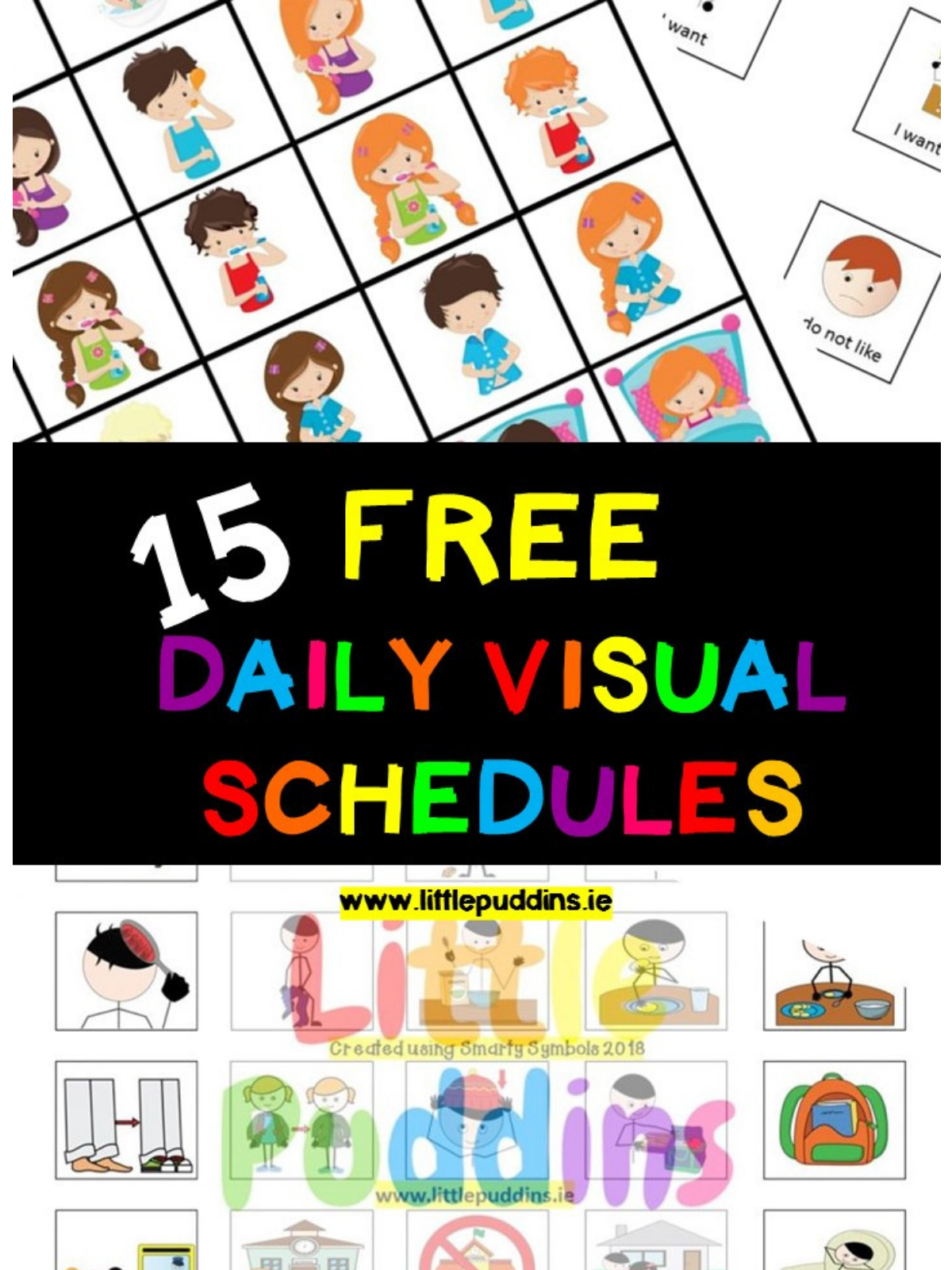 Free Visual Schedules Little Puddins Free Printables