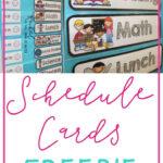FREEBIE Schedule Cards Classroom Schedule Cards