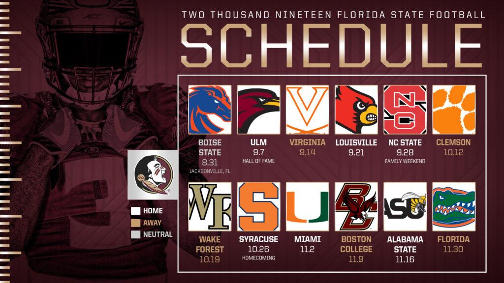 FSU S 2019 Schedule Set