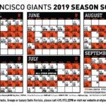 Giants 2019 Printable Schedule San Francisco Giants