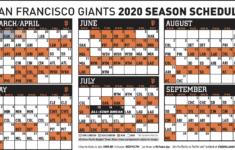 Giants Announce Tentative 2020 Regular Season Schedule
