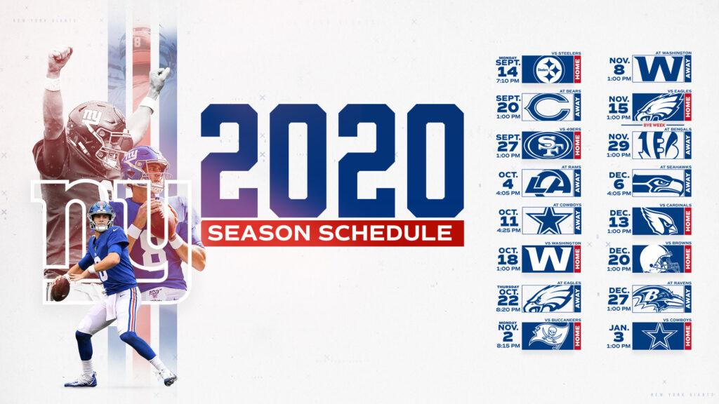 Giants Schedule New York Giants Giants
