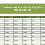 Half Marathon Training Plan With Printable