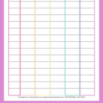 Homeschool Schedule Template Free Printable Happiness