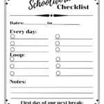 Homeschooling On A Loop Schedule Free Printable