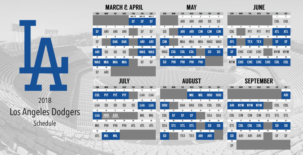 I Designed My Own Dodgers Schedule And Wanted To Share In