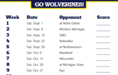 Image Result For University Of Michigan Football Schedule