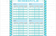 Infant Feeding Schedule Template Business