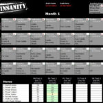 Insanity Calendar Month 1 Insanity Workout Schedule