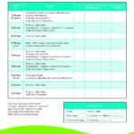 Isagenix Shake Day Schedule Printable Printable Calendar