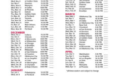 Los Angeles Clippers Basketball 2016 Schedule Score