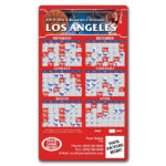 Los Angeles Clippers Basketball Team Schedule Magnets 4 X