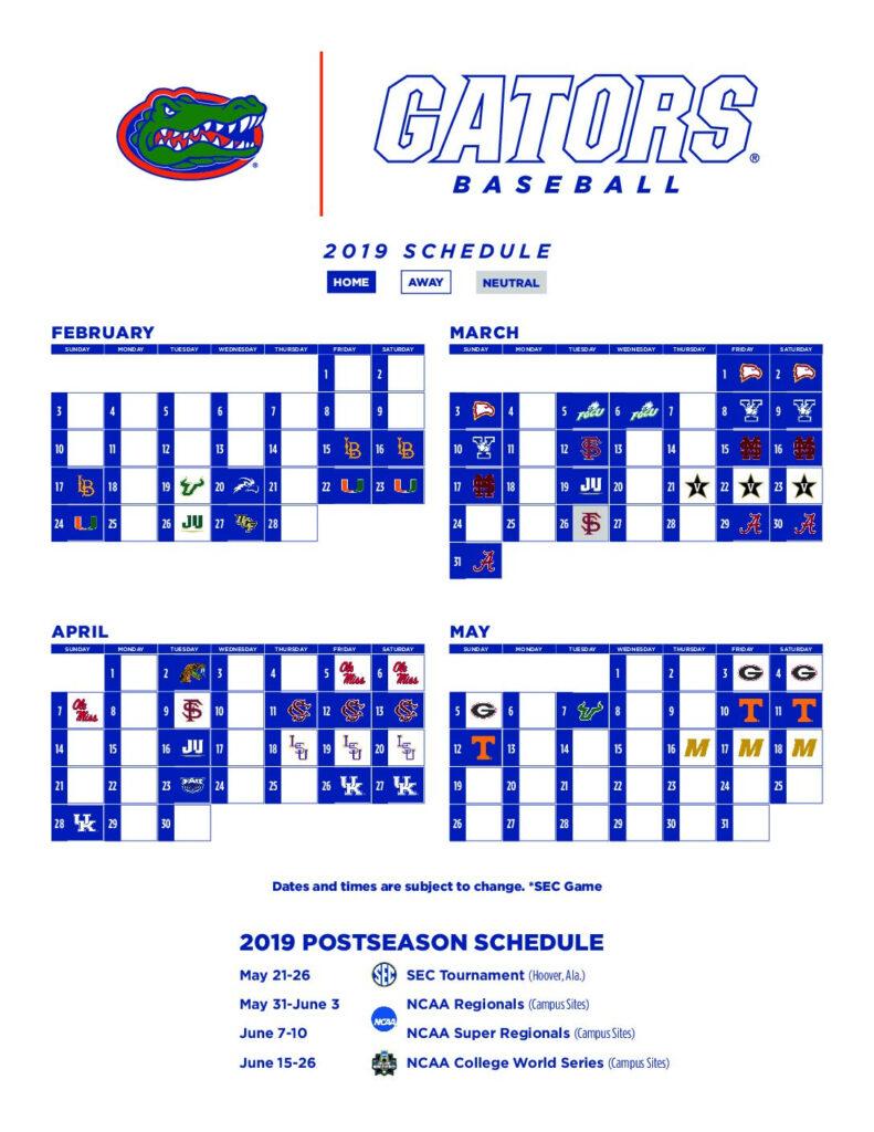 Lsu Baseball Schedule 2019 Printable PrintableTemplates