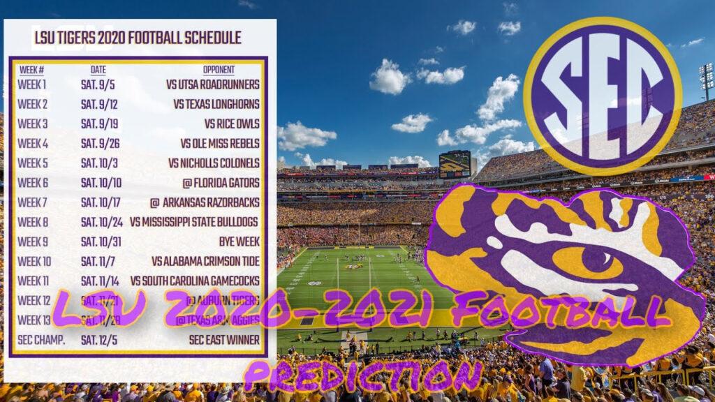 LSU Tigers 2020 2021 Football Schedule Prediction YouTube