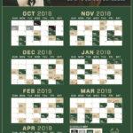 Milwaukee Bucks 2018 2019 Schedule Breakdown