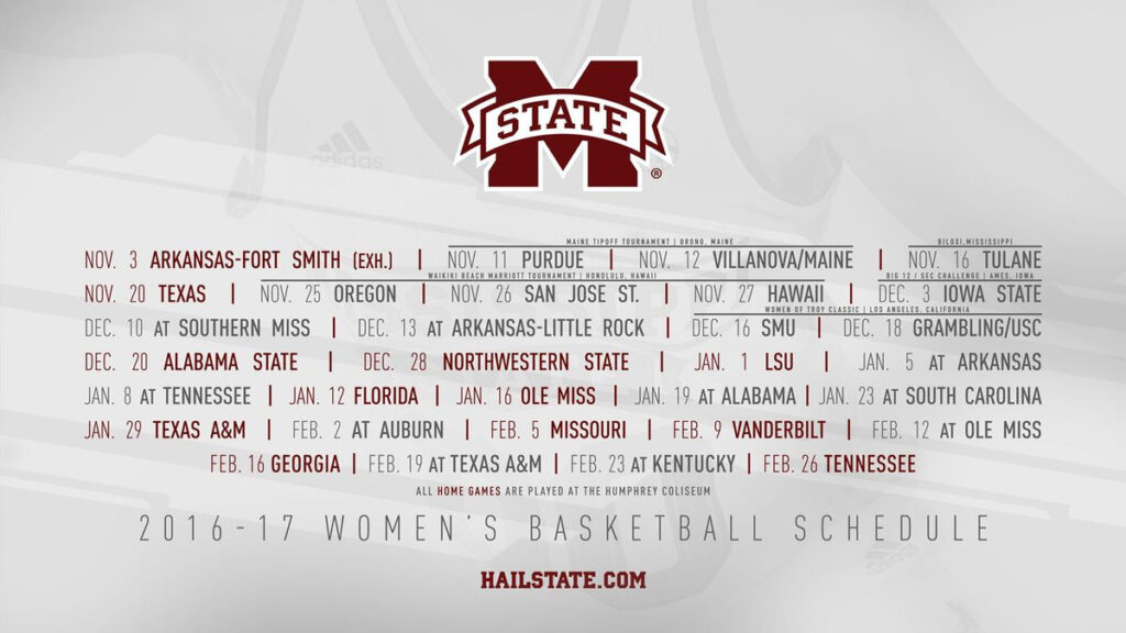 Mississippi State Releases Women S Basketball Non