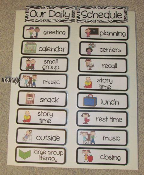 Monday Made It 4 Classroom Schedule Preschool Schedule