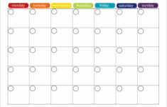 Monthly Timetable Template Cnbam