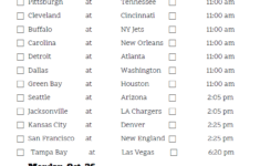 Mountain Time Week 7 NFL Schedule 2020 Printable
