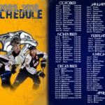 Nashville Predators 09 10 Printable Schedule And Wallpaper