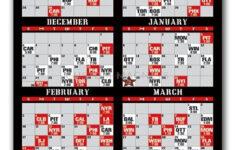 New Jersey Devils Pro Hockey Schedule Magnets 4 X 7