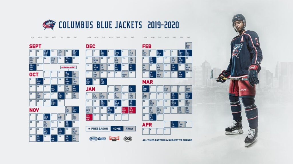 Nhl Columbus Blue Jackets Schedule Best Picture Of Blue