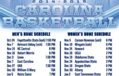 Printable Tarheel Basketball Schedule